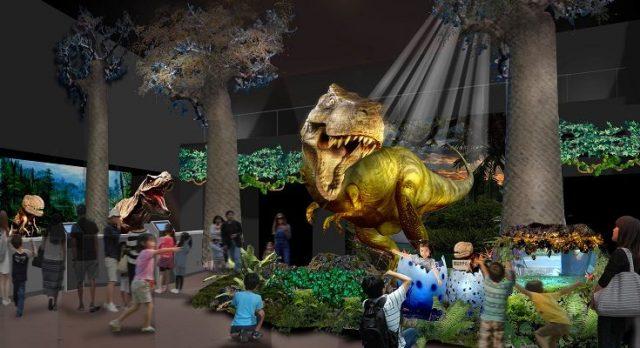 フロントで恐竜ロボットがお出迎え!接客もロボットが担当!?その名も「変なホテル」が、蒲郡ラグーナテンボスにオープン。