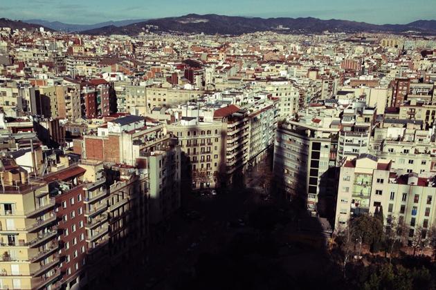 サグラダからのバルセロナ市