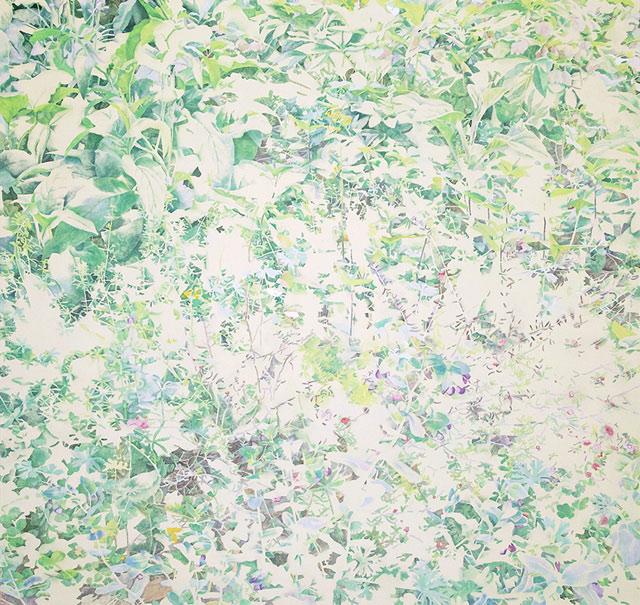 瑞々しいランドスケープを描く注目の美術作家、木村彩子の個展が開催。