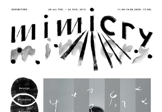美術家、グラフィックデザイナー、フォトグラファーの3者によるアートブックユニット『mimicry』の展示が開催。