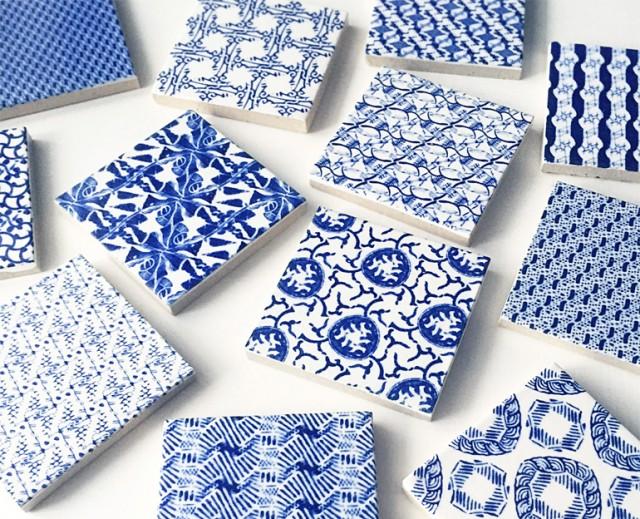 陶片の柄を抽出し、再構成することで新しい模様を生み出すguse arsのプロジェクト「washed pattern」から生まれたタイルのフェアが開催中。