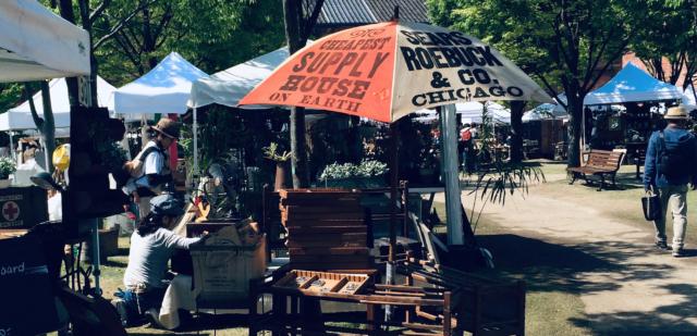 """植物、アンティーク、こだわりのフードがノリタケの森に大集結。人気""""蚤の市""""イベント「Go Green Market 2019 Spring」開催中。"""
