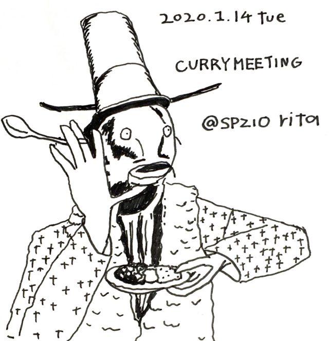 2020年最初のカレーミーティングが栄・spazio ritaにて開催。fiji on the curry、クレープのMOGUMOGUがゲスト出店。
