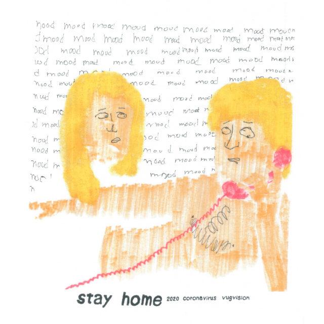 名古屋在住ドローイング/コラージュアーティスト・VUGによる展示「stay home」がセレクトショップ・unlike.のオンラインストアにて開催中。展示作品、物販を販売。#STAYHOME_WITHCULTURE