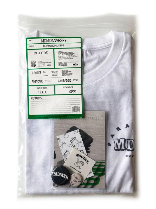 Campanella×RAMZAによる12曲の音源、Tシャツ、ステッカーなどリミテッドアイテムをパッケージした『MDM 10TH ANNIVERSARY PACK』がリリース。