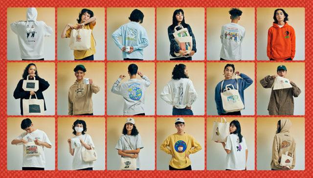 JUN OSON、WHOSMiNG、 TOWN君、YANGGAO、LIVERARY他総勢28名が参加!国内外のクリエイターたちと「ニコアンド… 」がコラボグッズを発表。名古屋はmozoワンダーシティ店にて展開。