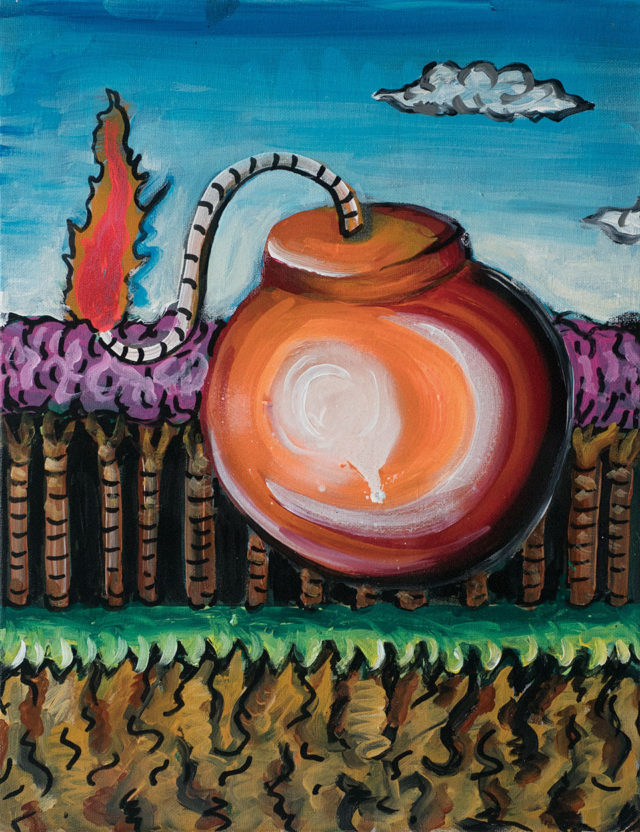 「同じ型の絵を1ヶ月で100枚描く」という行為から見出された巨大なキャンバス画を展示。愛知出身の画家・設楽陸による個展が長者町コットンビルにて開催。